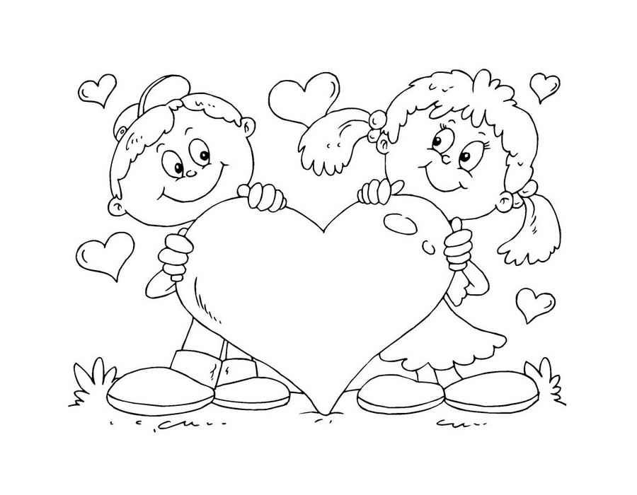 Рисуем открытку на день святого валентина