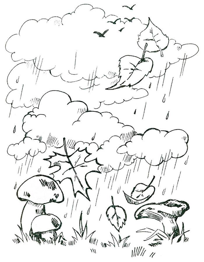 Картинки раскраски по теме осень