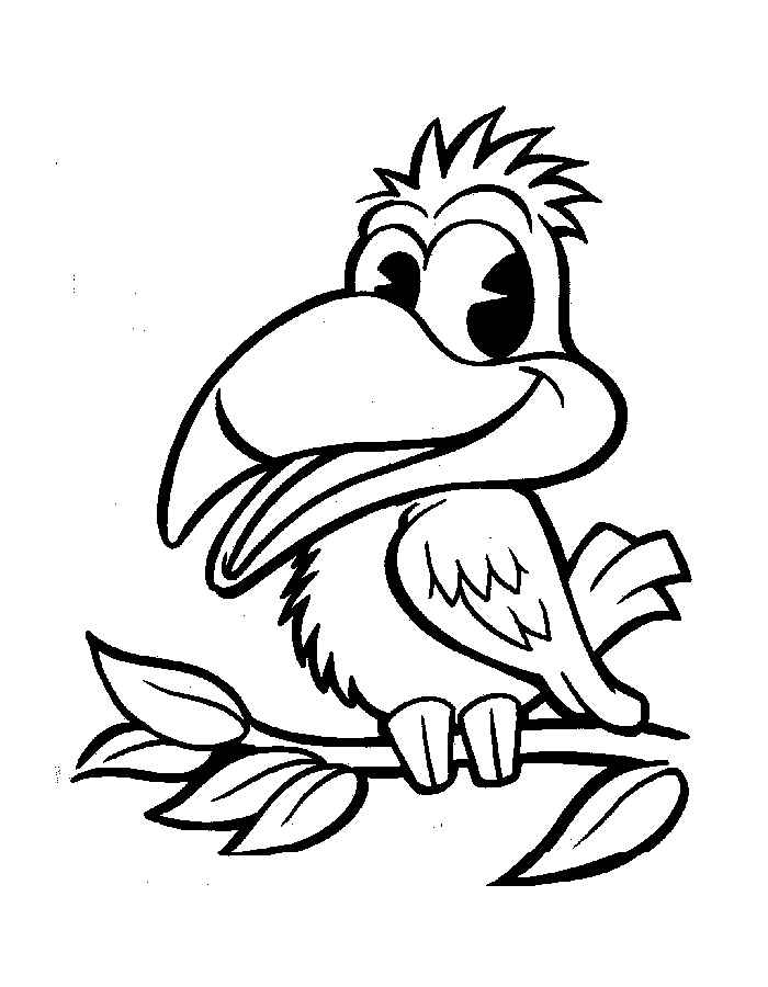bird coloring free colouring pages childrens