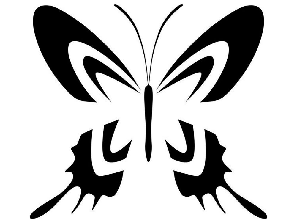 раскраски трафарет бабочки скачать и распечатать