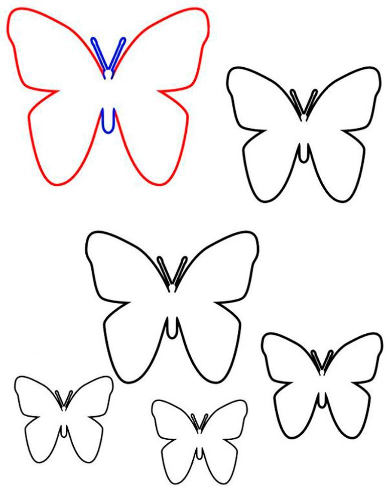 Мультфильмов как, бабочки для открыток шаблоны