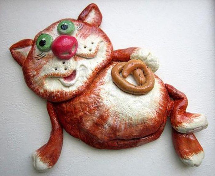 кот из соленого теста