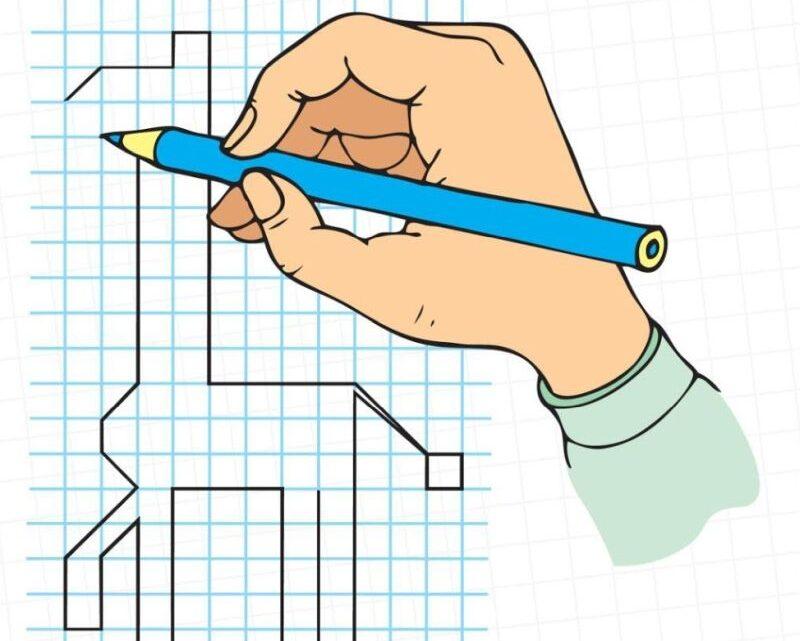 Графические диктанты по клеточкам для детей — схемы и рисунки