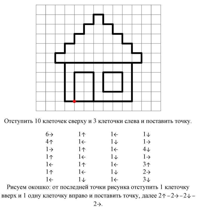 графический диктант для детей
