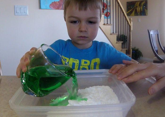 химические опыты с малышами