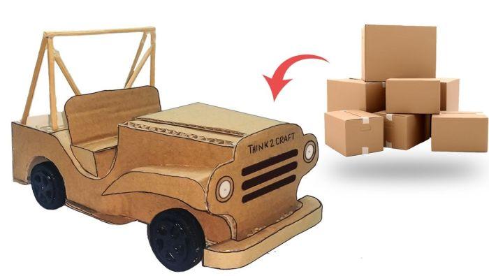 как сделать из картона машину