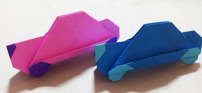 как сделать машину из бумаги