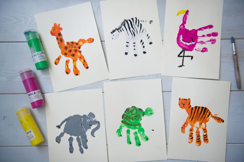 Рисование пальчиками и ладошками с детьми дошкольного возраста — свежие идеи