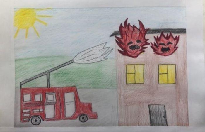 рисунки по пожарной безопасности для начальной школы
