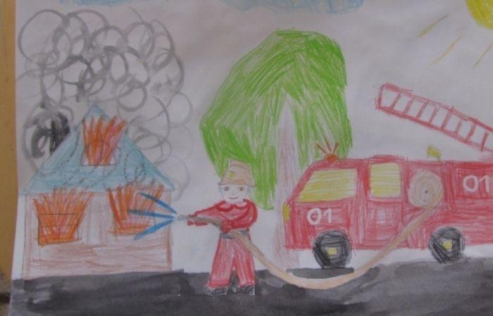 рисунки на тему пожарная безопасность глазами детей