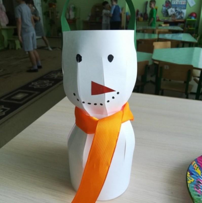 Готовый снеговик
